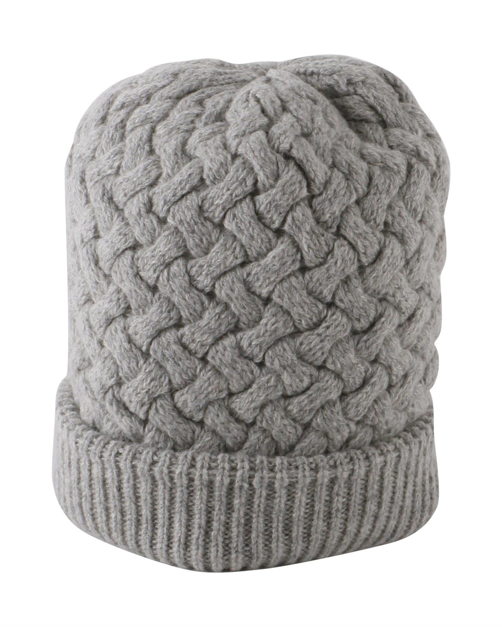DANIELE FIESOLI Baby Alpaca Blend Hat in Grey