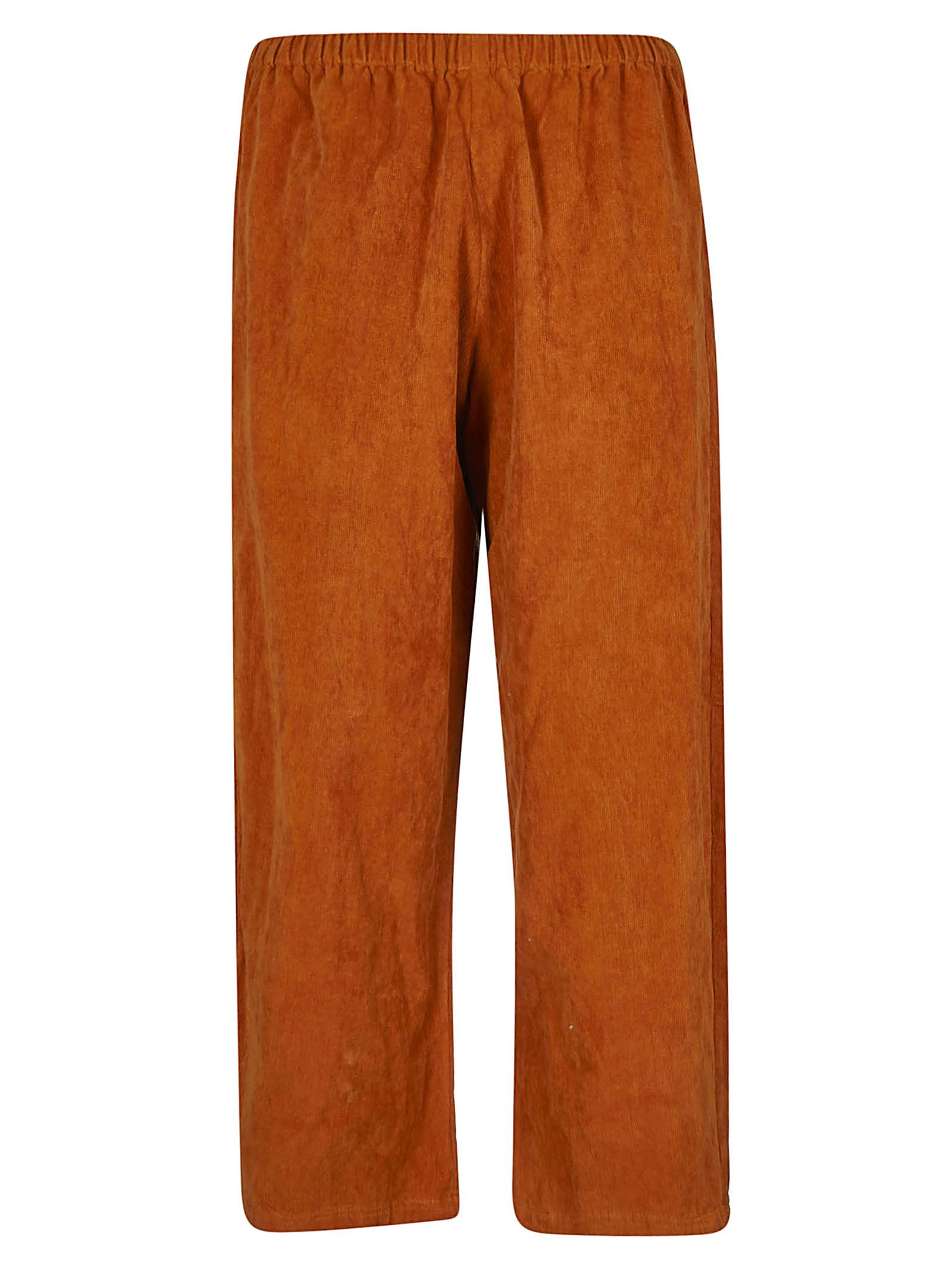 A PUNTO B A.B Elasticated Cropped Trousers in Orange
