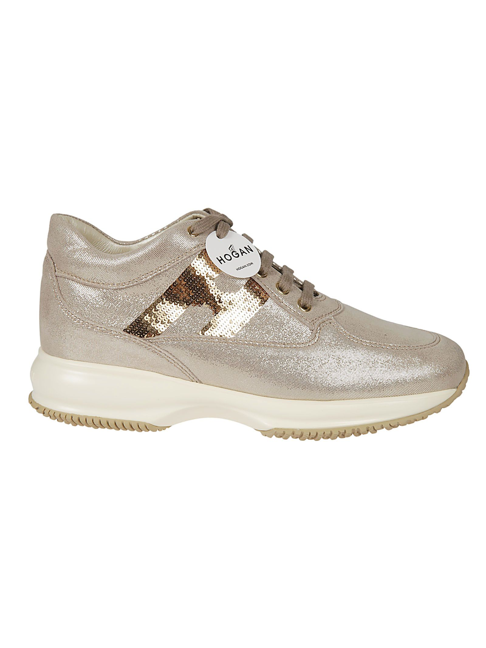 HOGAN SEQUIN EMBELLISHED SNEAKERS