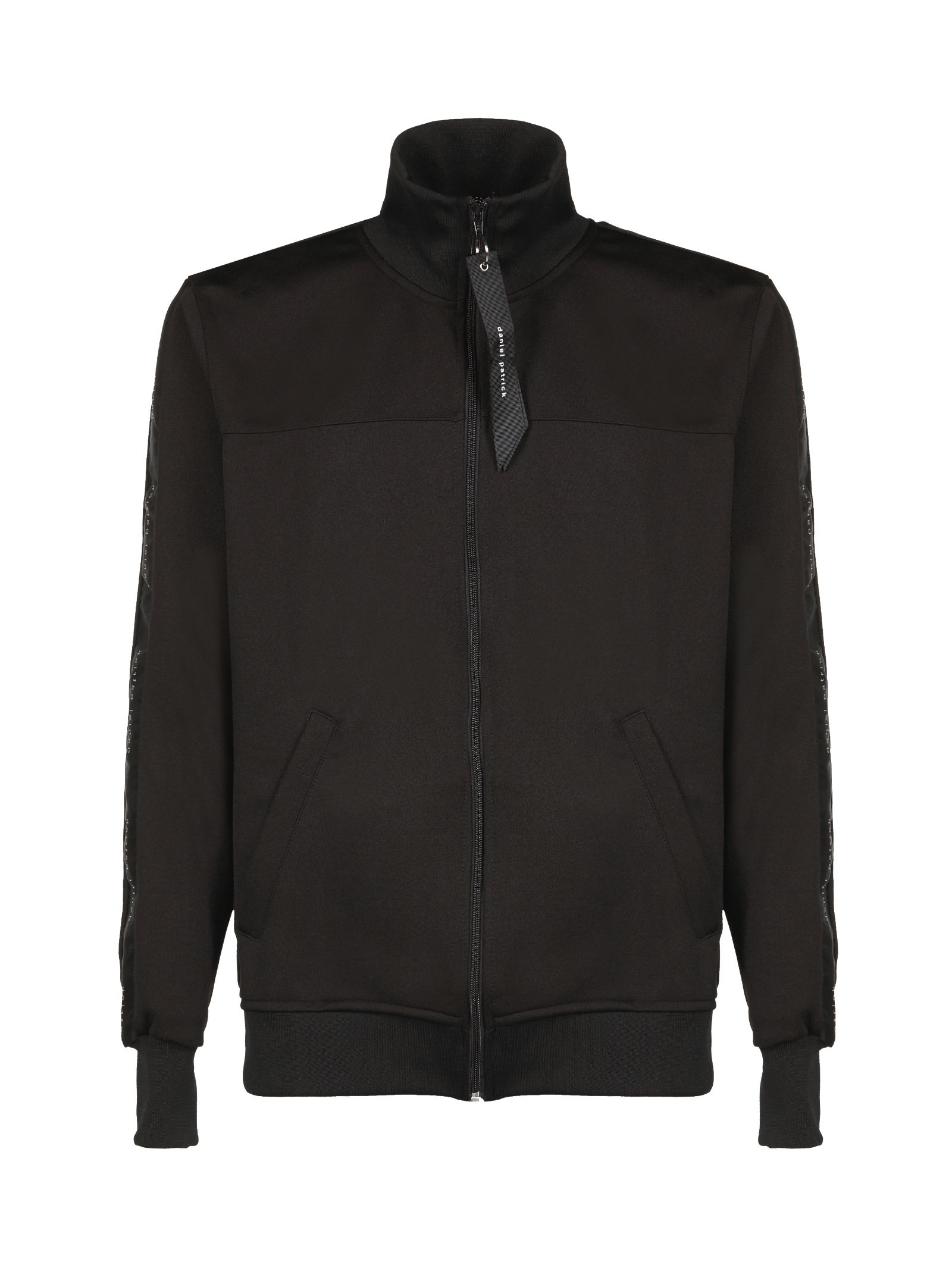 DANIEL PATRICK Zipped Bomber in Nero