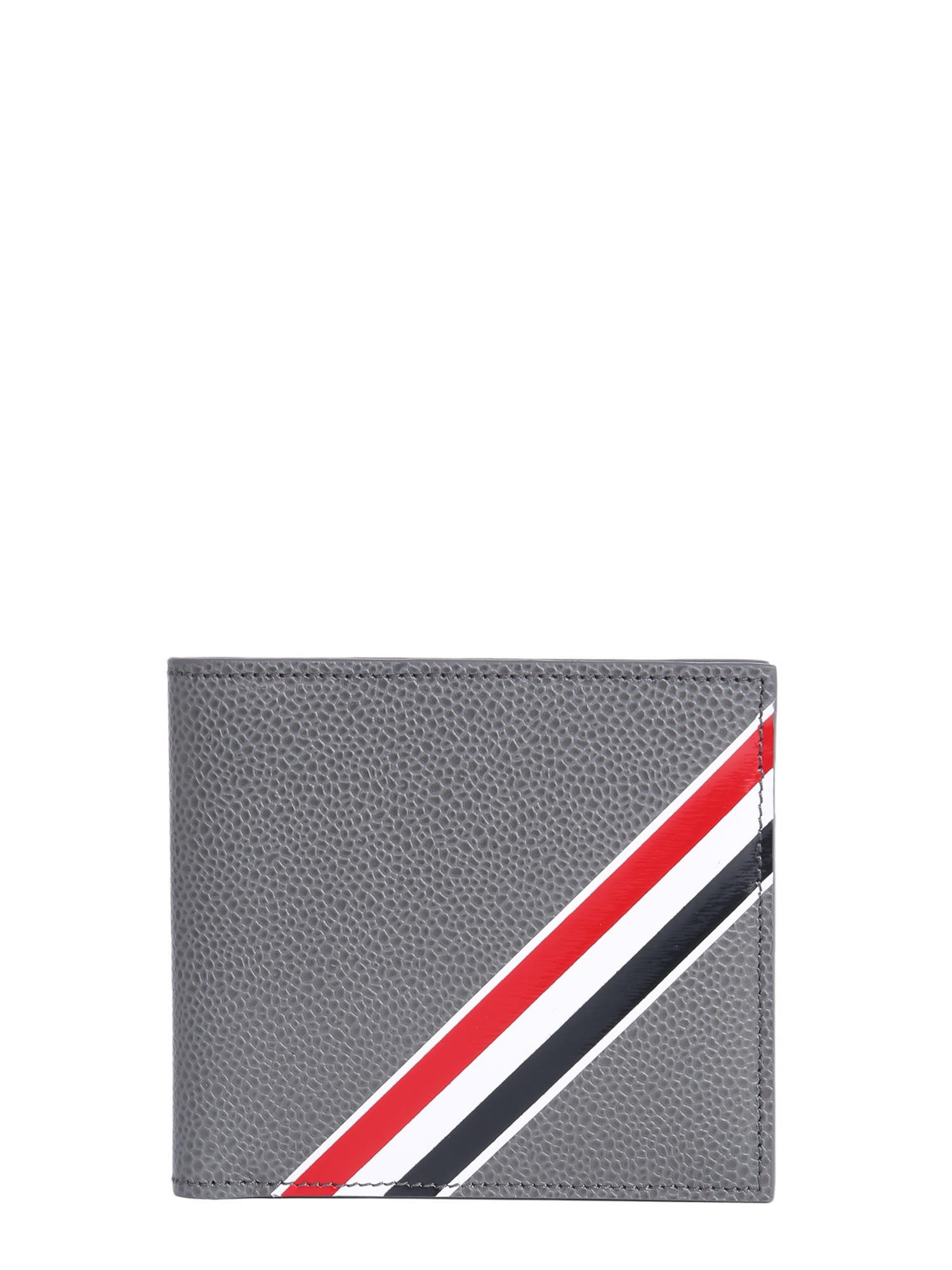 THOM BROWNE GRAINED LEATHER BIFOLD WALLET