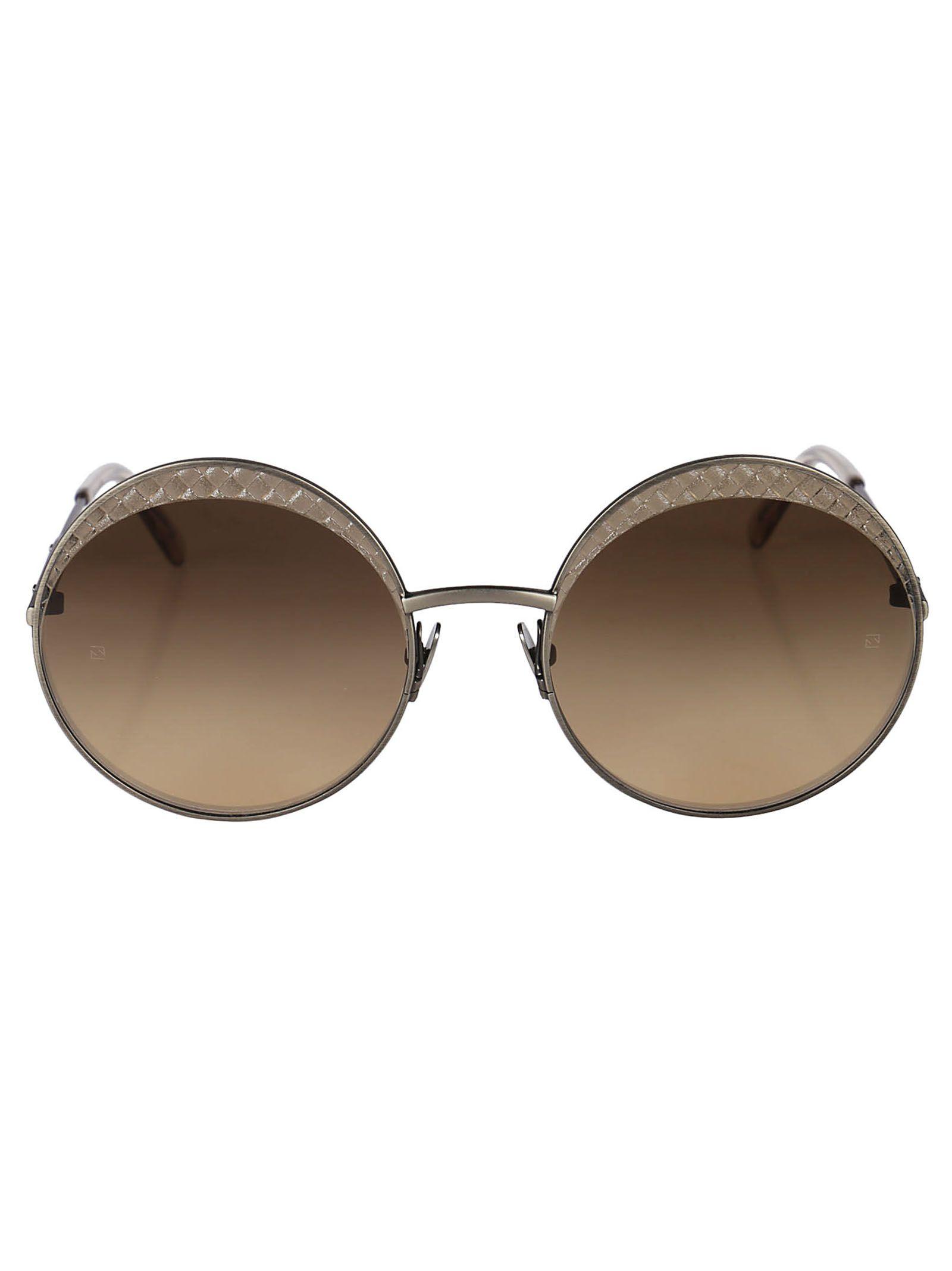 61c26b8632a Bottega Veneta Round Shape Sunglasses In Silver