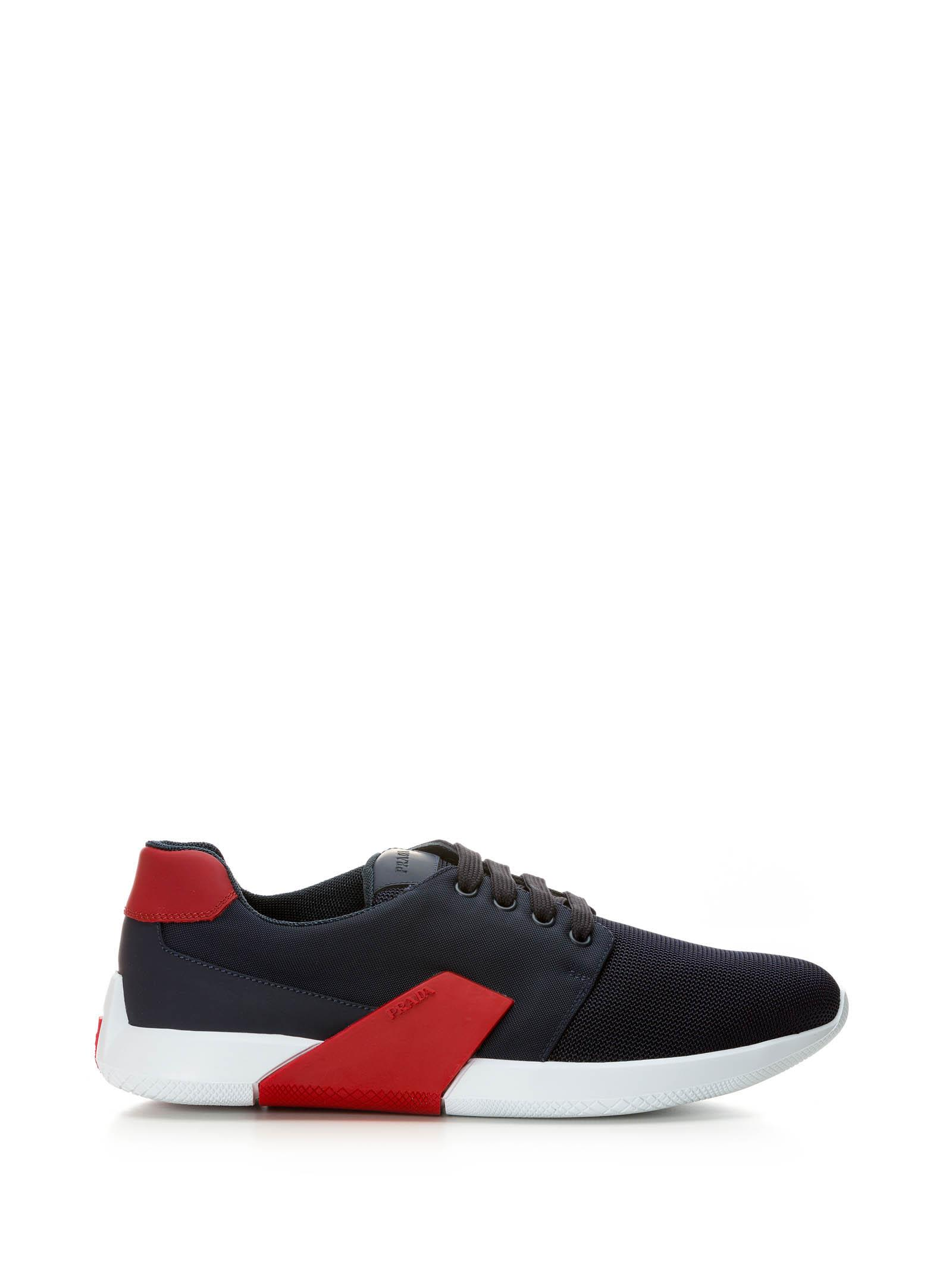 PRADA DOUBLE MICRO-OPERATED CANVAS SNEAKERS SHOES