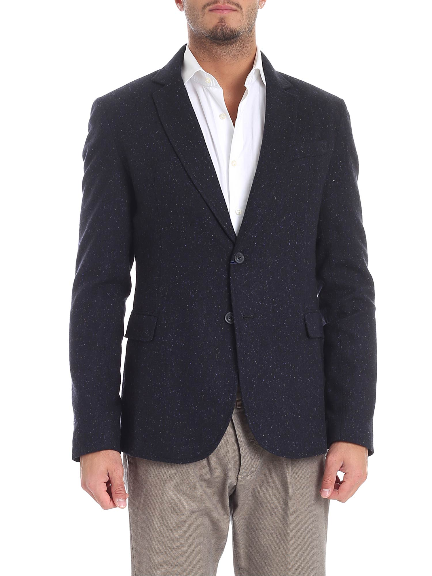 TRUSSARDI Regular Fit Blazer in Blue