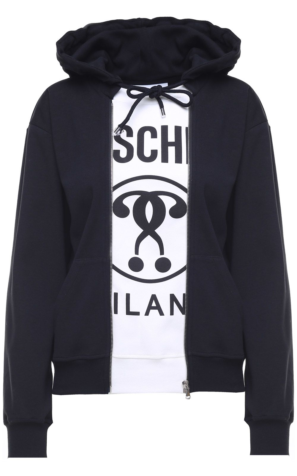 COUTURE COTTON-JERSEY HOODED SWEATSHIRT from Italist.com