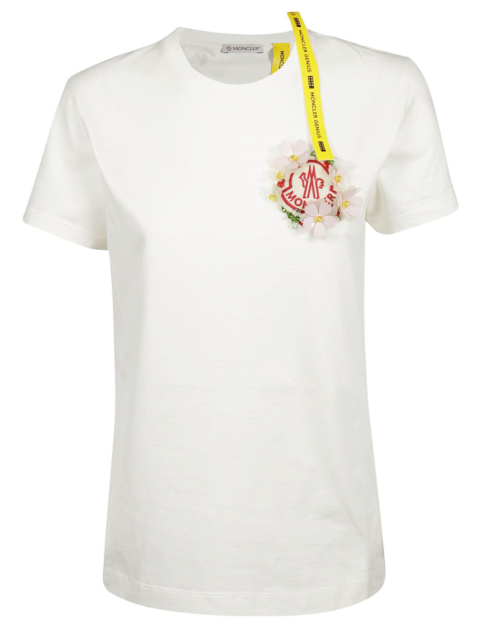 white moncler t shirt