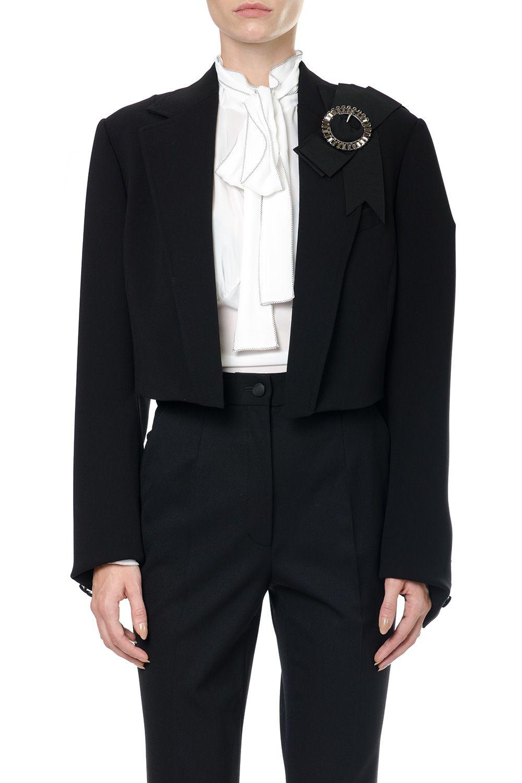 Dolce & Gabbana Wool Jacket With Jewel Buckle