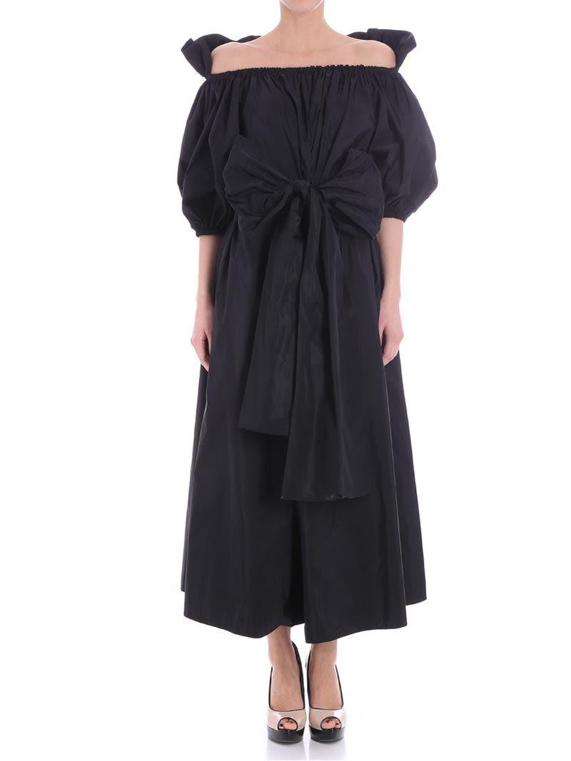 STELLA MCCARTNEY OFF-SHOULDER BELTED DRESS