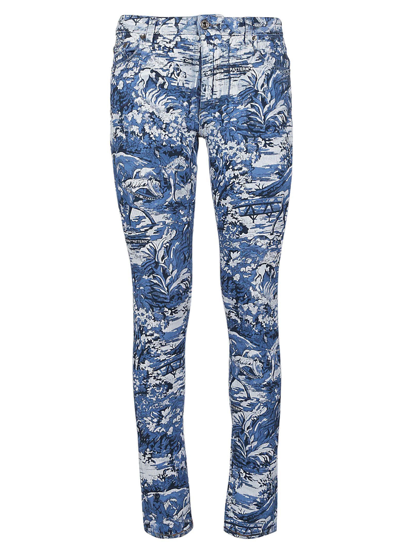 Off-white Printed Skinny Jeans