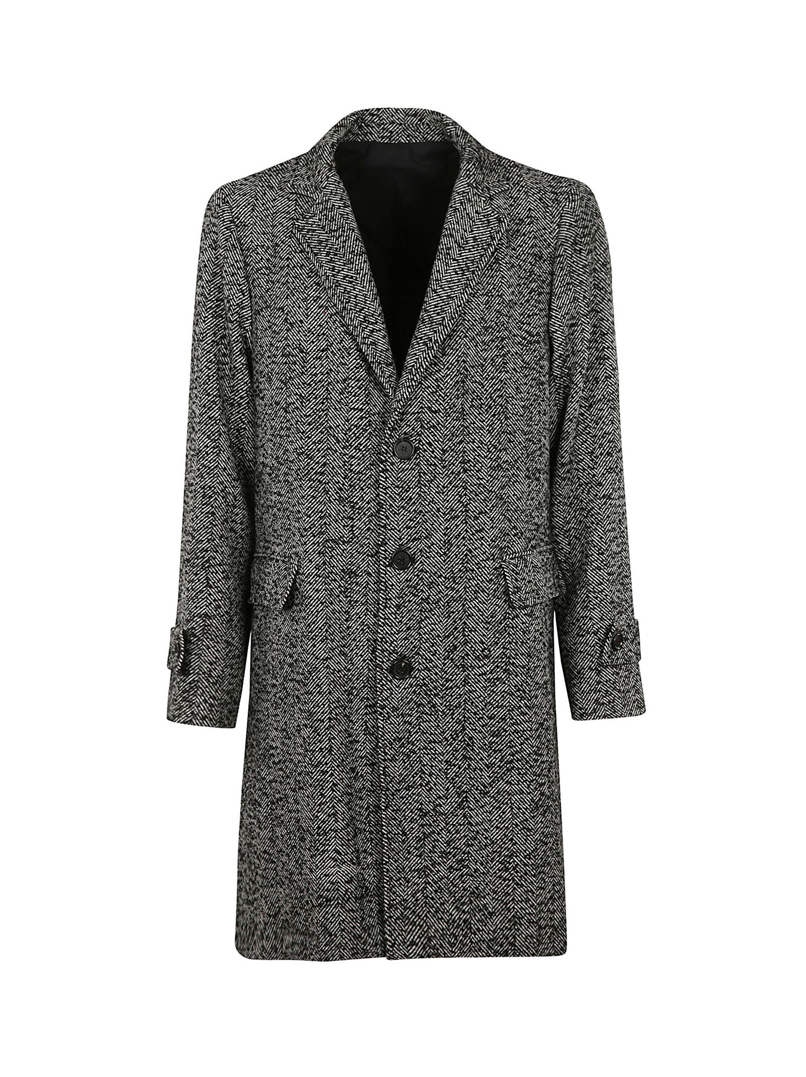 THE EDITOR Single Breasted Coat in White