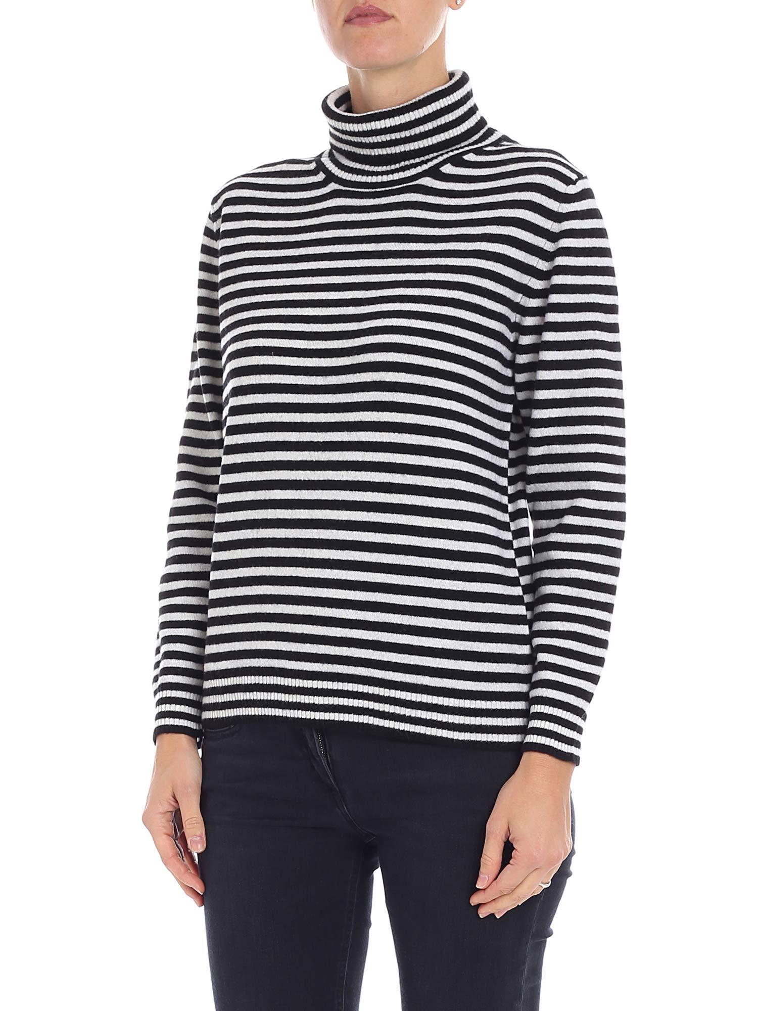 ALTEA Striped Sweater in Black/White