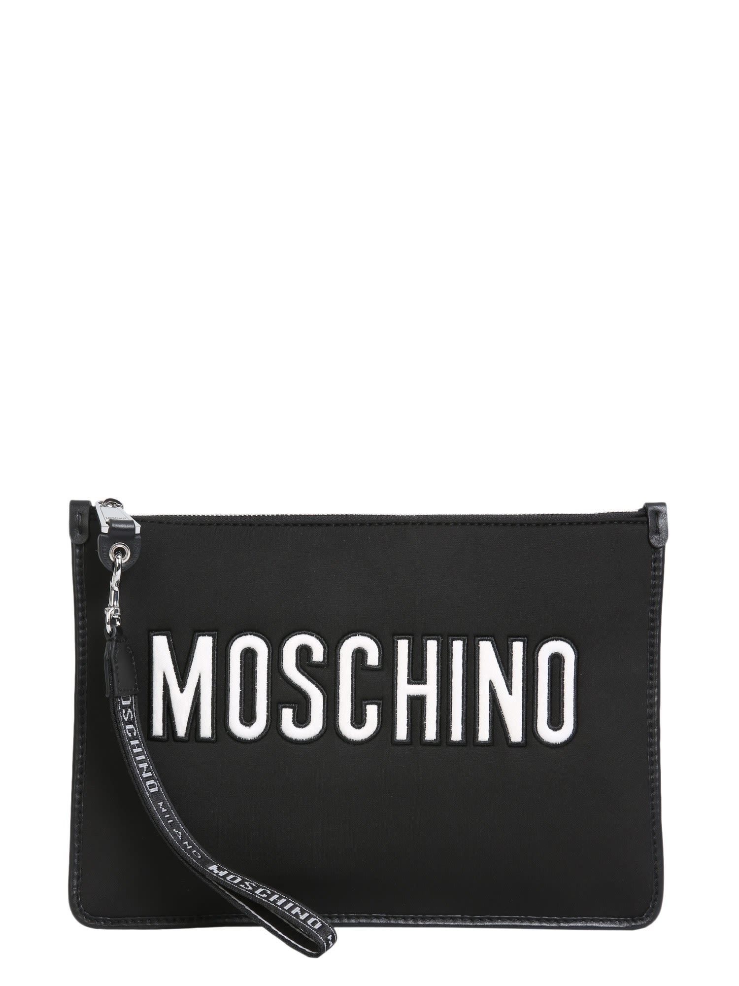 LOGO EMBROIDERED CLUTCH BAG