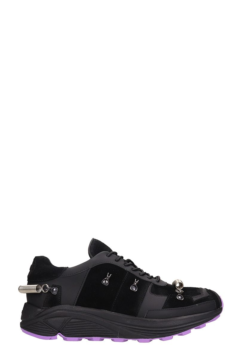 GIENCHI Black Leather And Suede Sneakers
