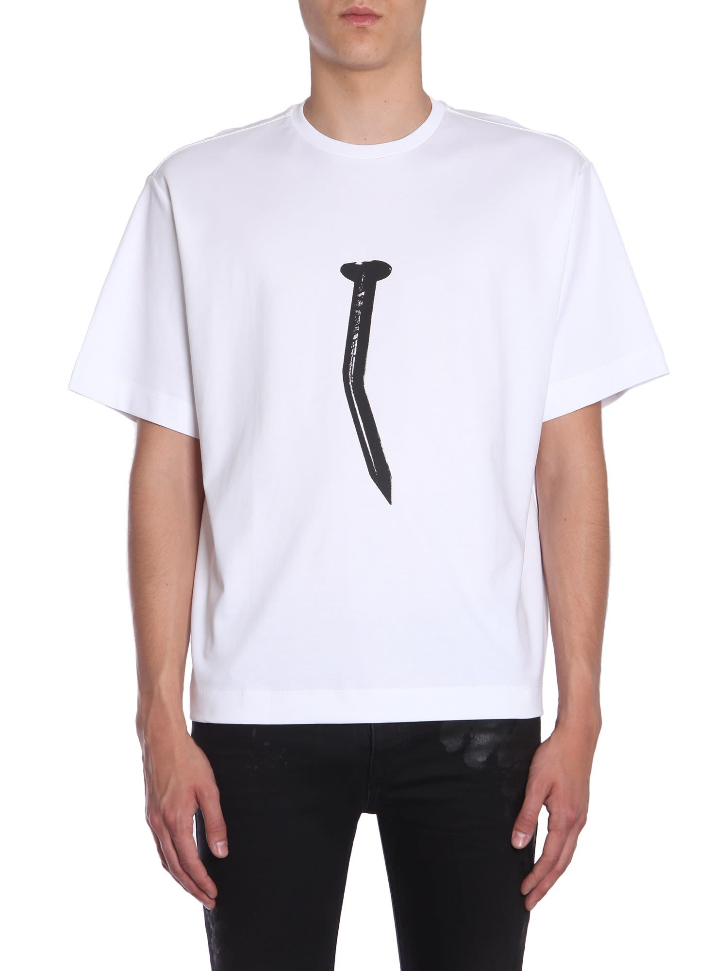 DIESEL BLACK GOLD 'Teorial-Nail' T-Shirt in White