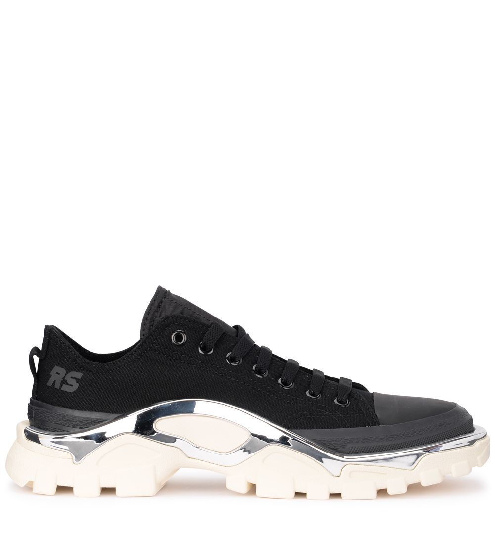Raf Simons Black And White Adidas Originals Edition Rs Detroit Runner Sneakers in 09915 BlkN