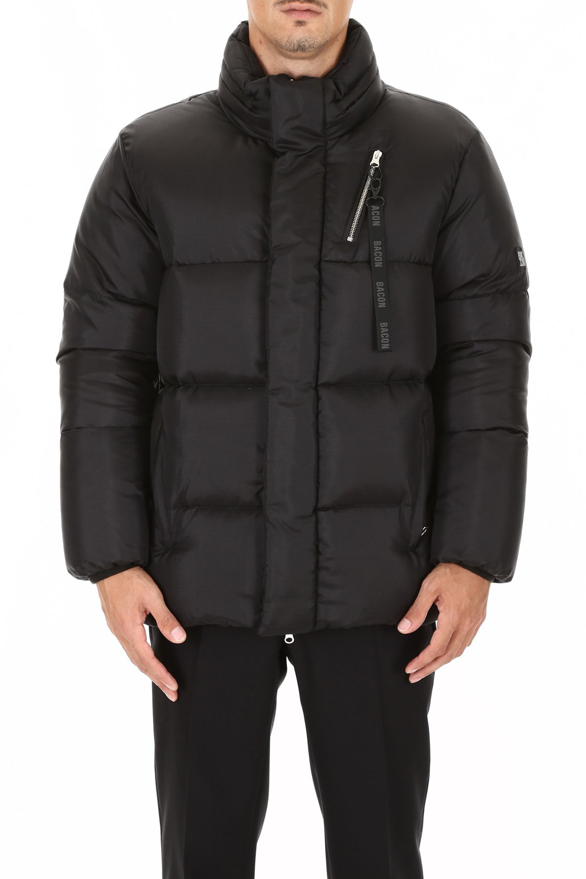 BACON CLOTHING Big Boo Puffer Jacket in Black