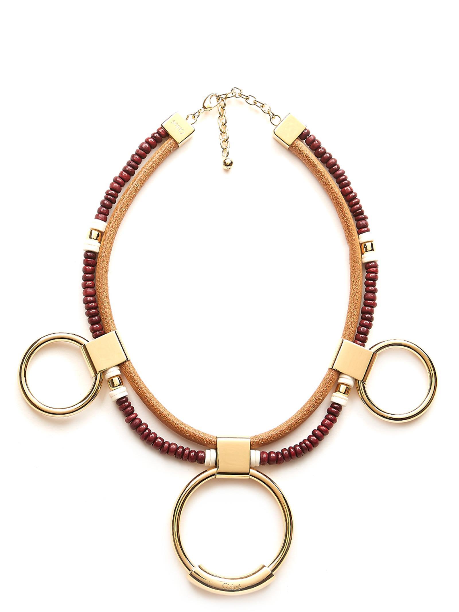 Necklace, Burgundy