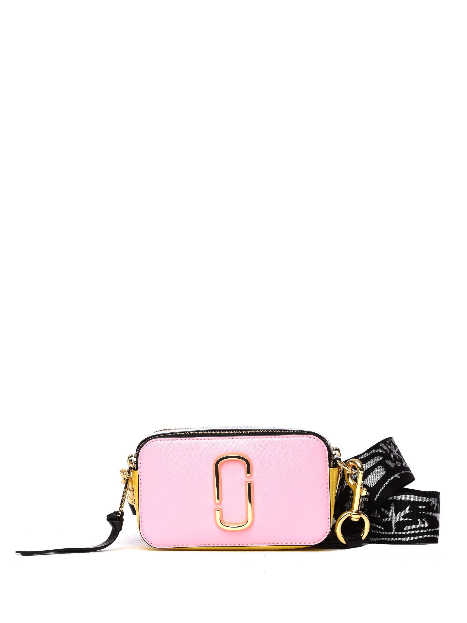 5ebdb646256c Marc Jacobs Snapshot Pink Bag In Baby Pink Multi