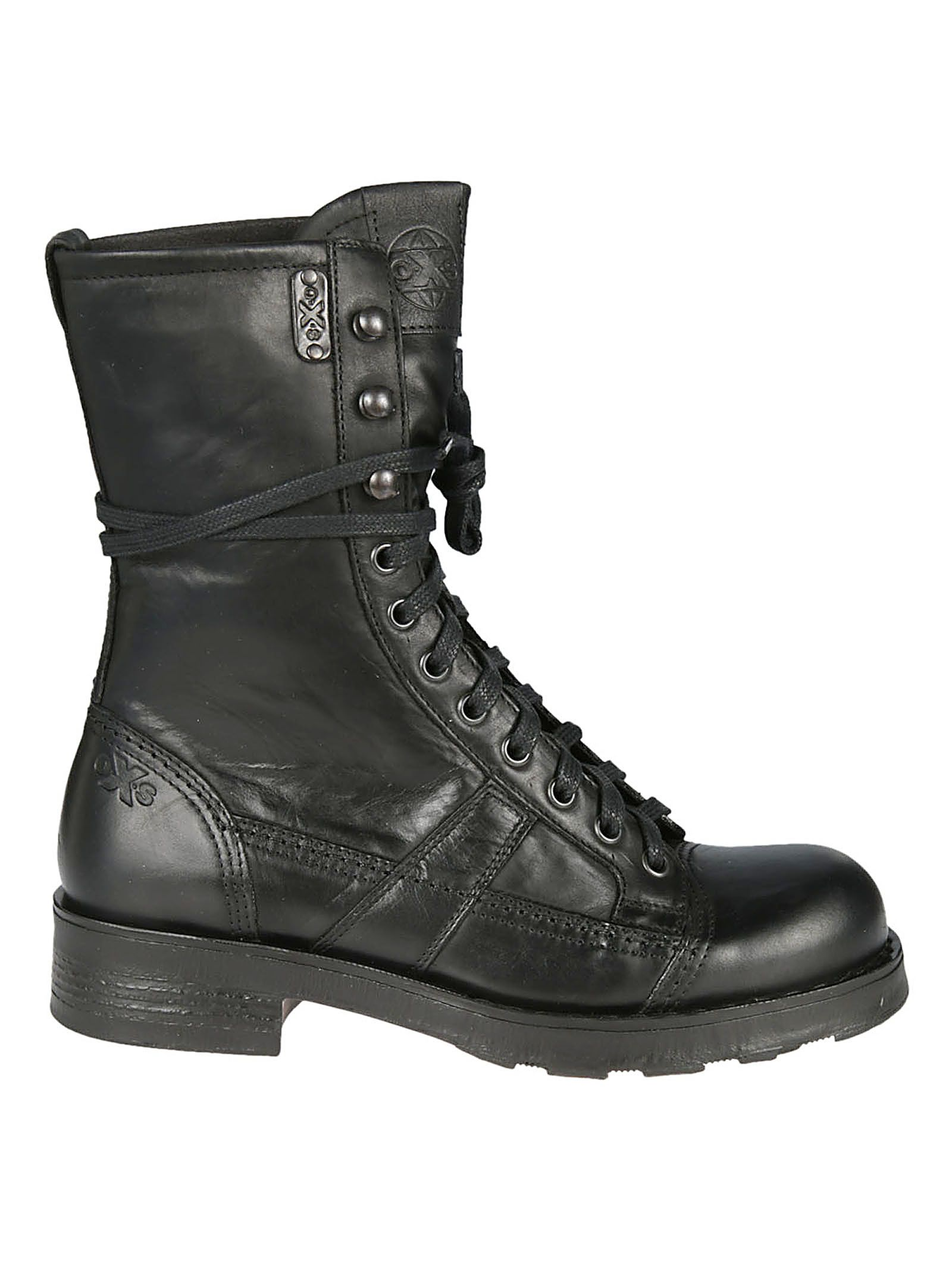 OXS Oxs Stewart Lace-Up Boots in Nero
