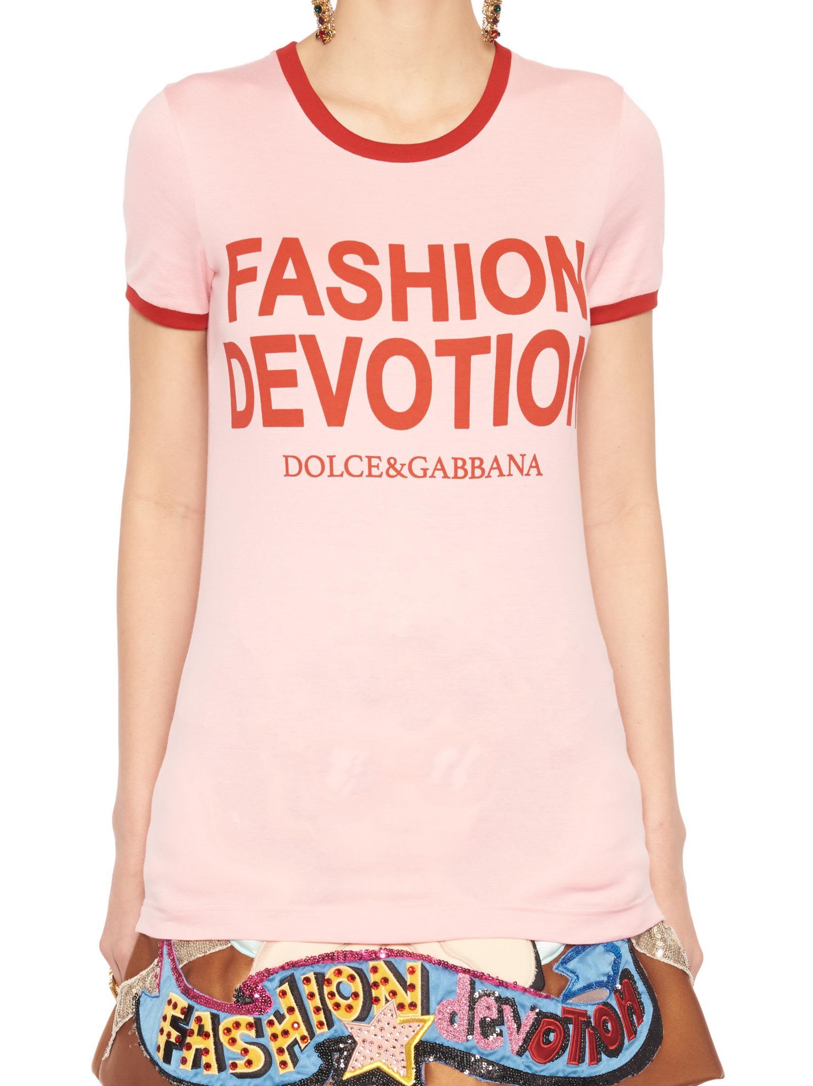 'Fashion Devotion' T-Shirt, Pink