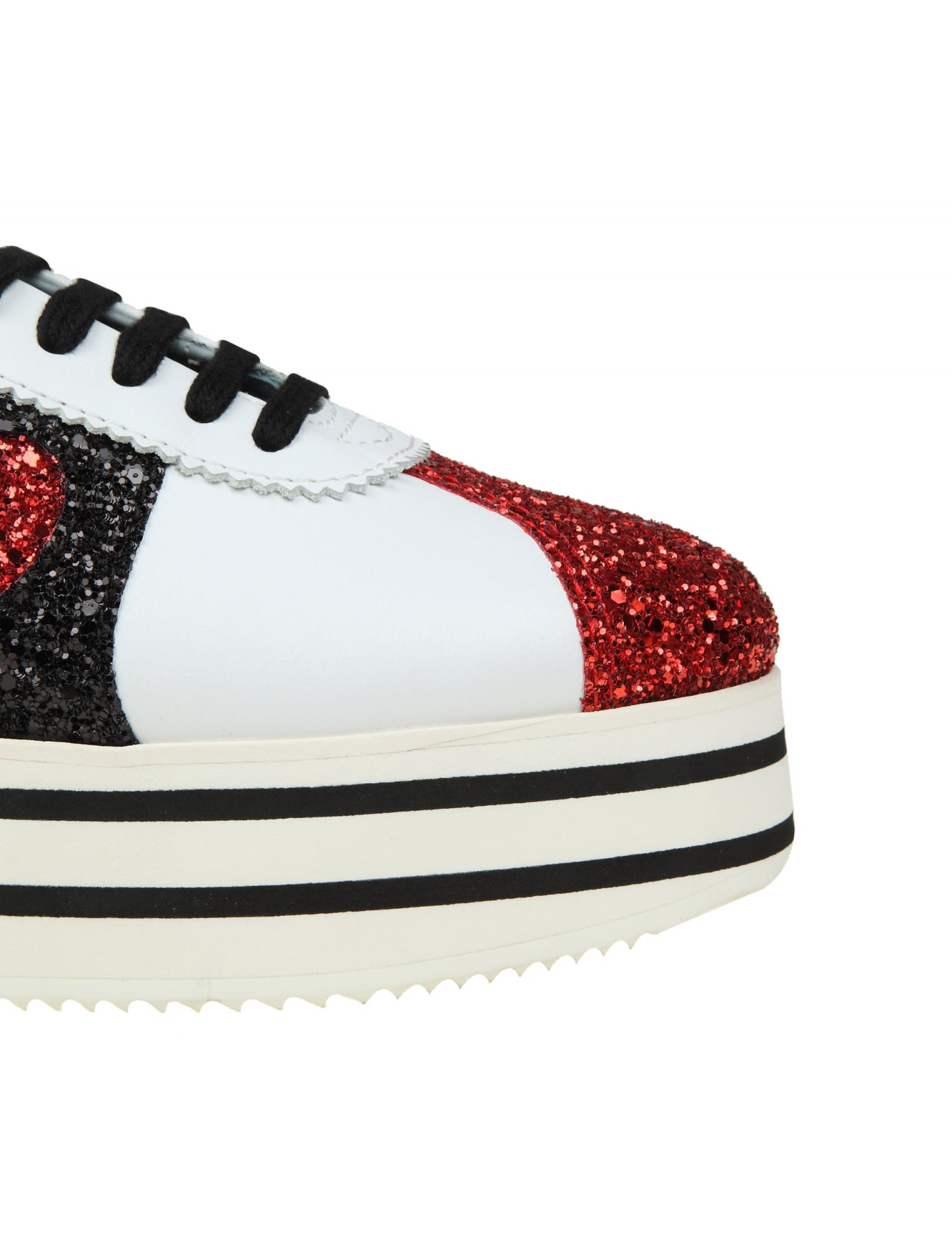 Chiara Ferragni Leather Sneakers With Glitter Applications Order Cheap Price Free Shipping Cheap Online aubiQMcP33