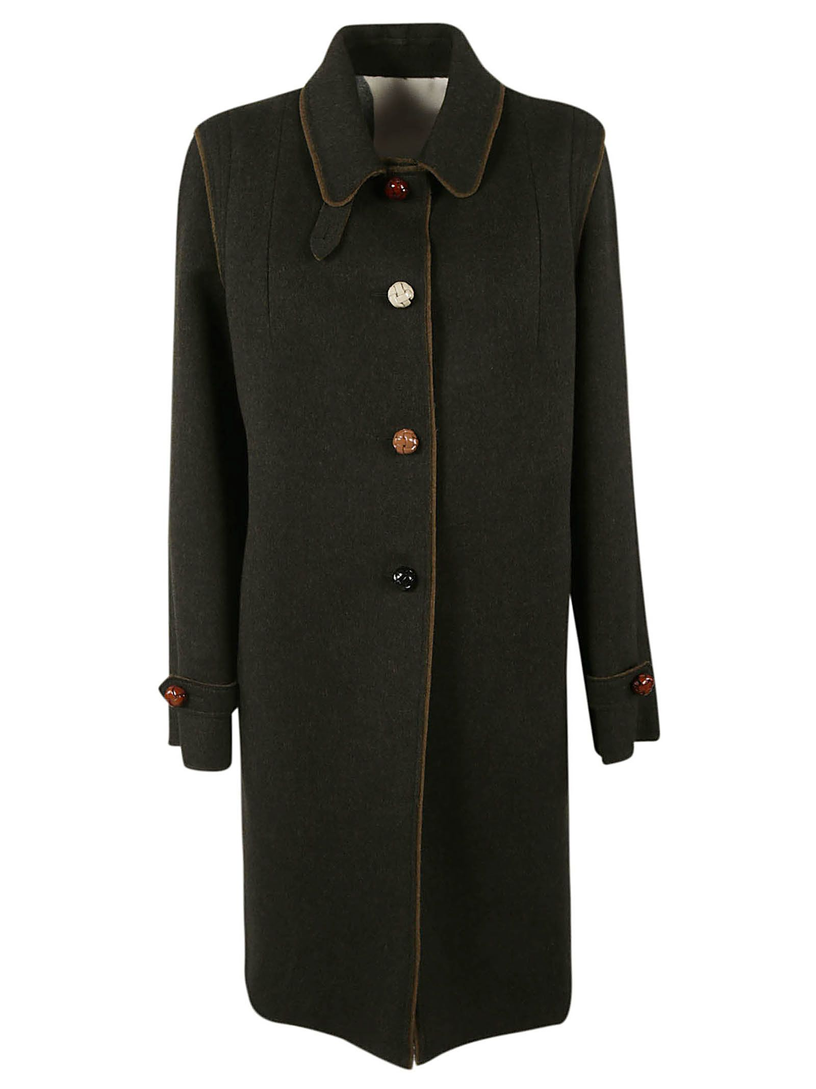 LODENTAL Lodental Single-Breasted Coat in Green