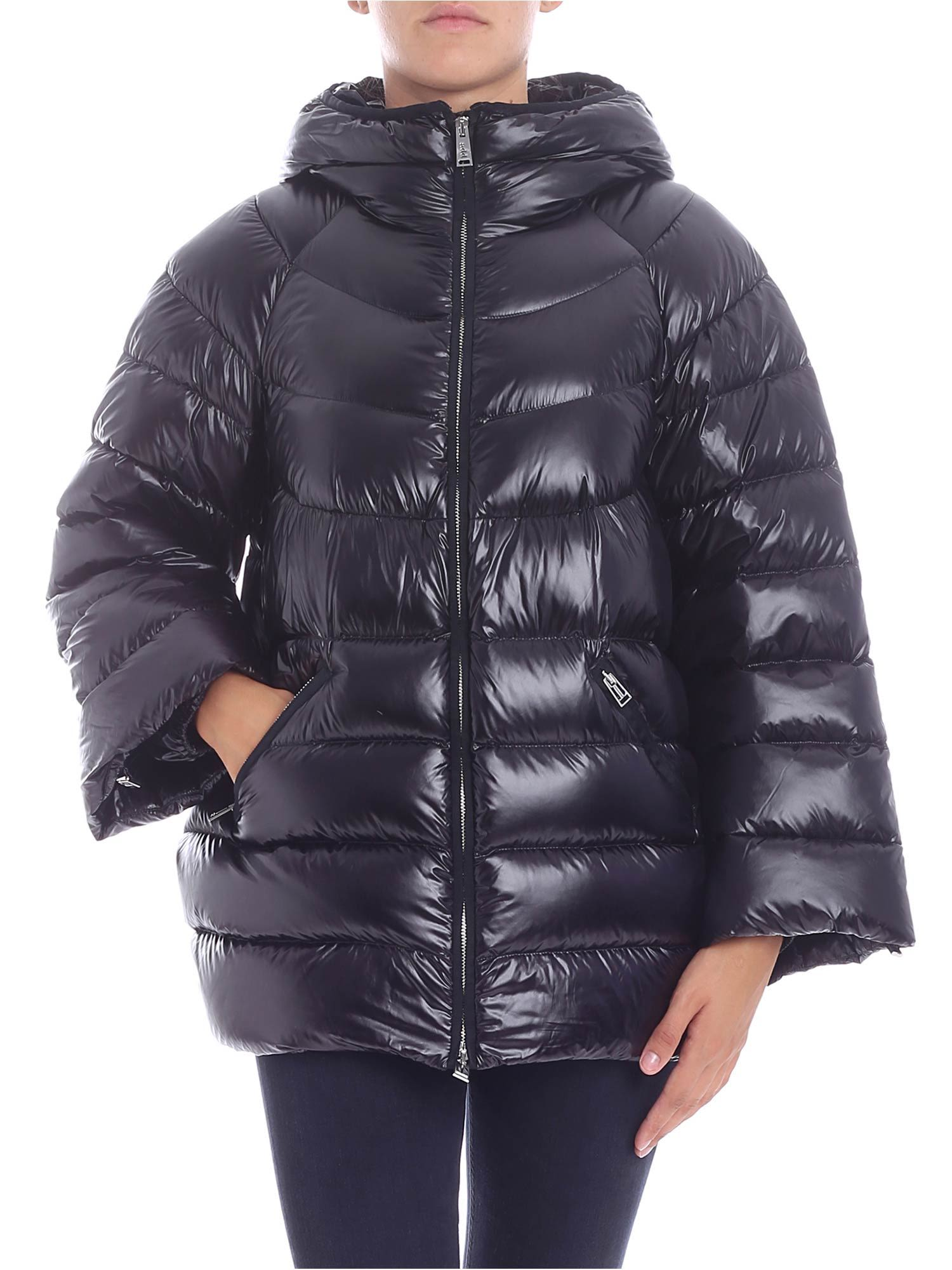 ADD Zipped Down Jacket in Nero