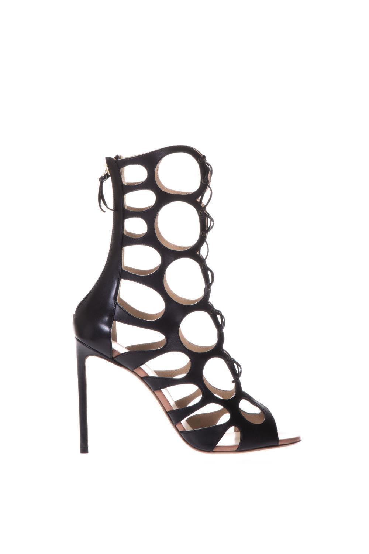 cut-out sandals - Black Francesco Russo TS57omQhk