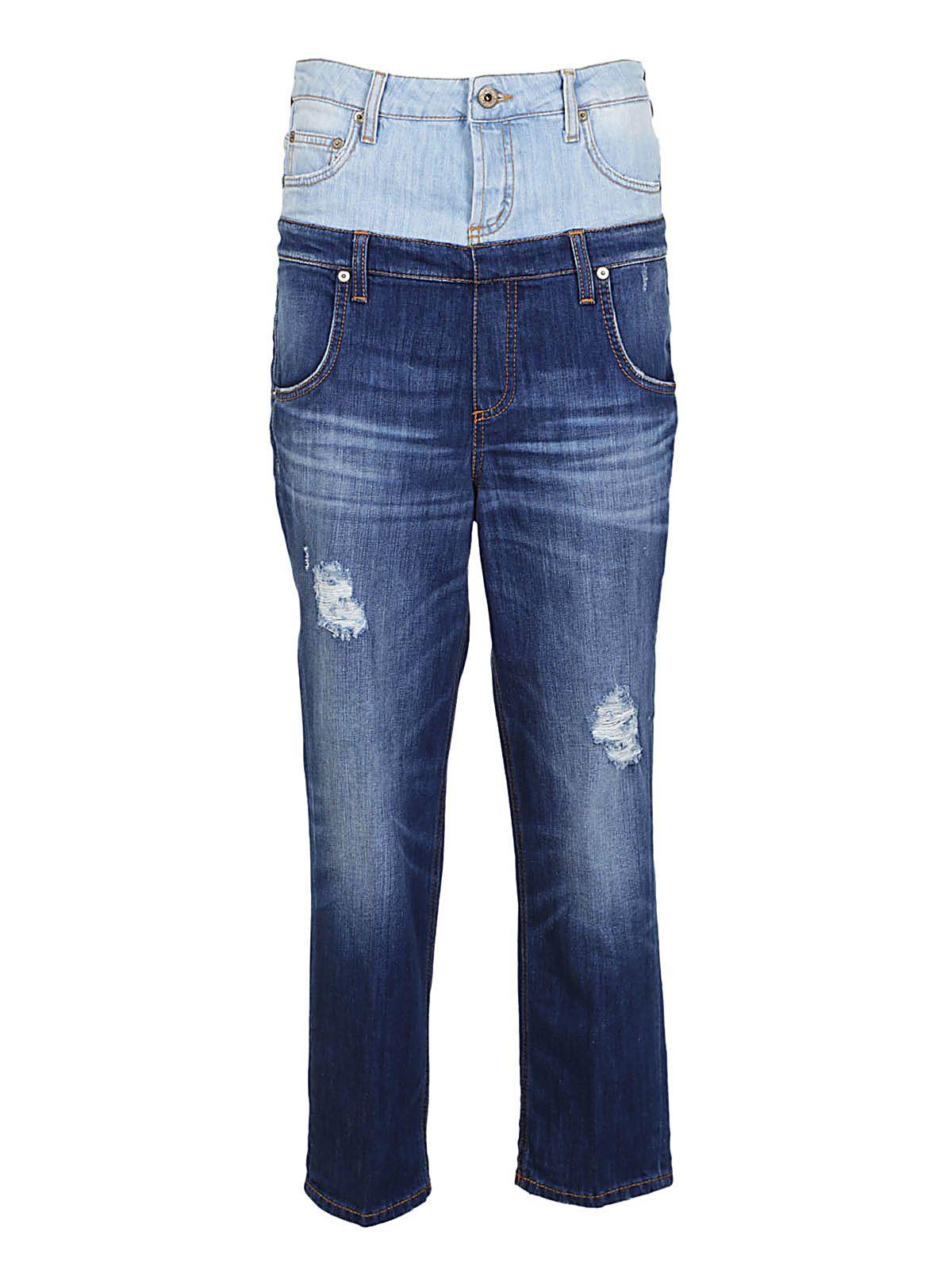 Dondup Layered Denim Jeans 10553039