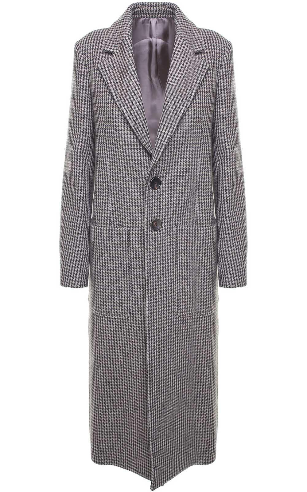 Joseph Marko Houndstooth Wool-blend Coat