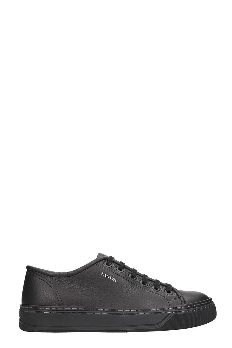 Lanvin Black Leather Sneakers