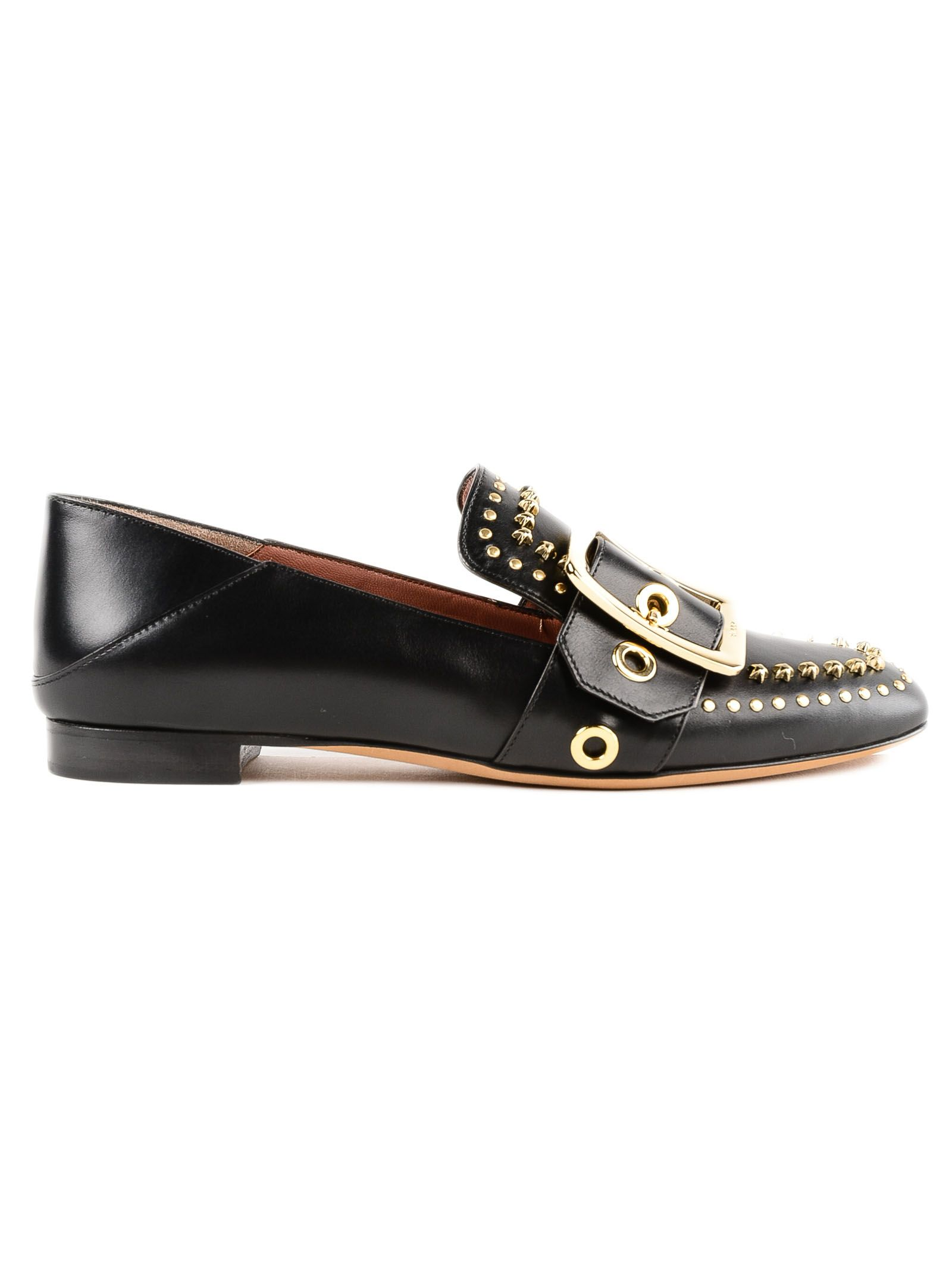 Micro Studs Janelle Loafers, Black