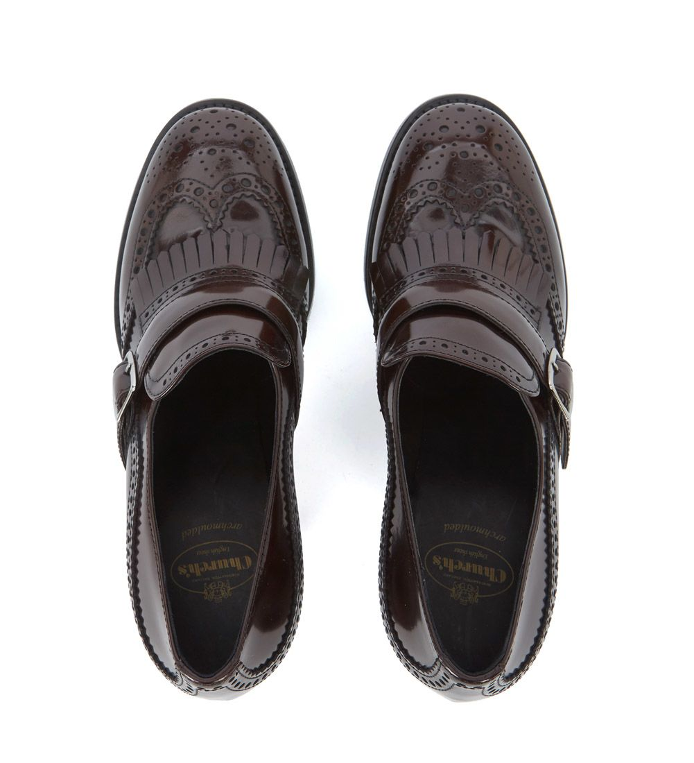 Church's Sibylle ebony leather heeled loafer women's Court Shoes in Outlet Wiki Cheap Official Professional For Sale Cheap Footlocker Official Site fPRrNYw