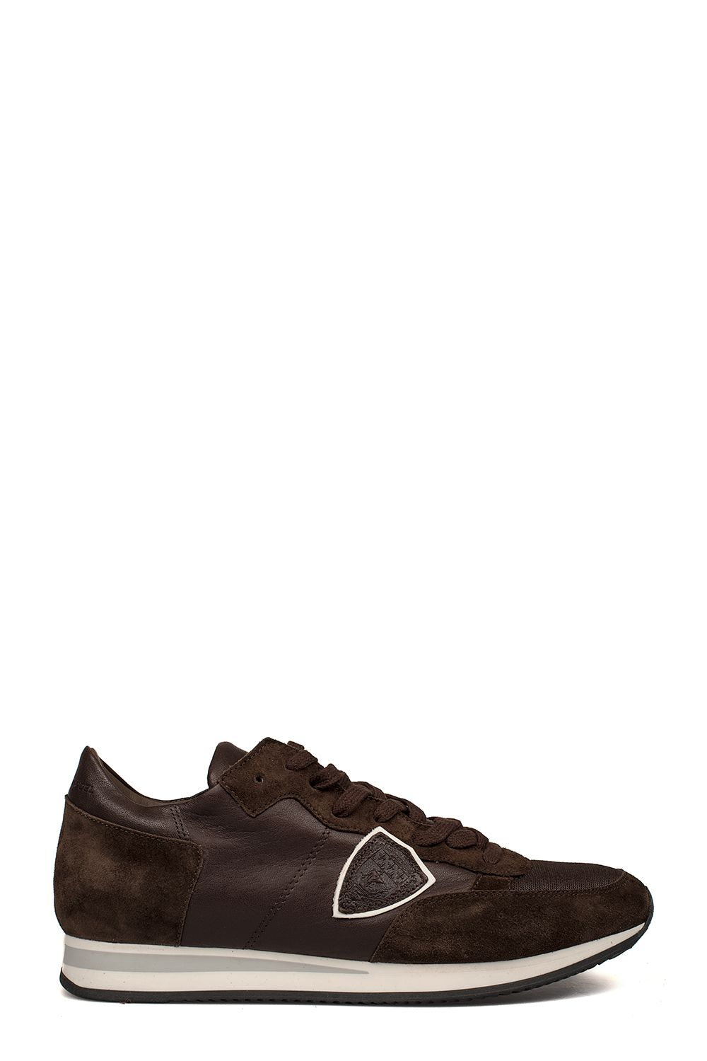 Brown Tropez Suede Leather Sneakers