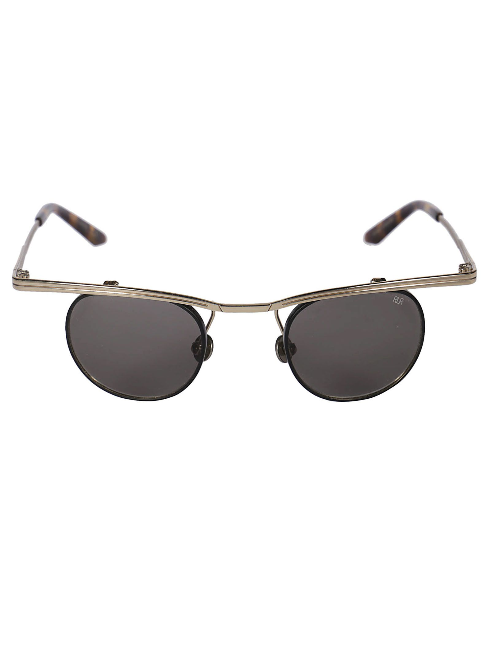 Robert Laroche Winged Round Frame Sunglasses