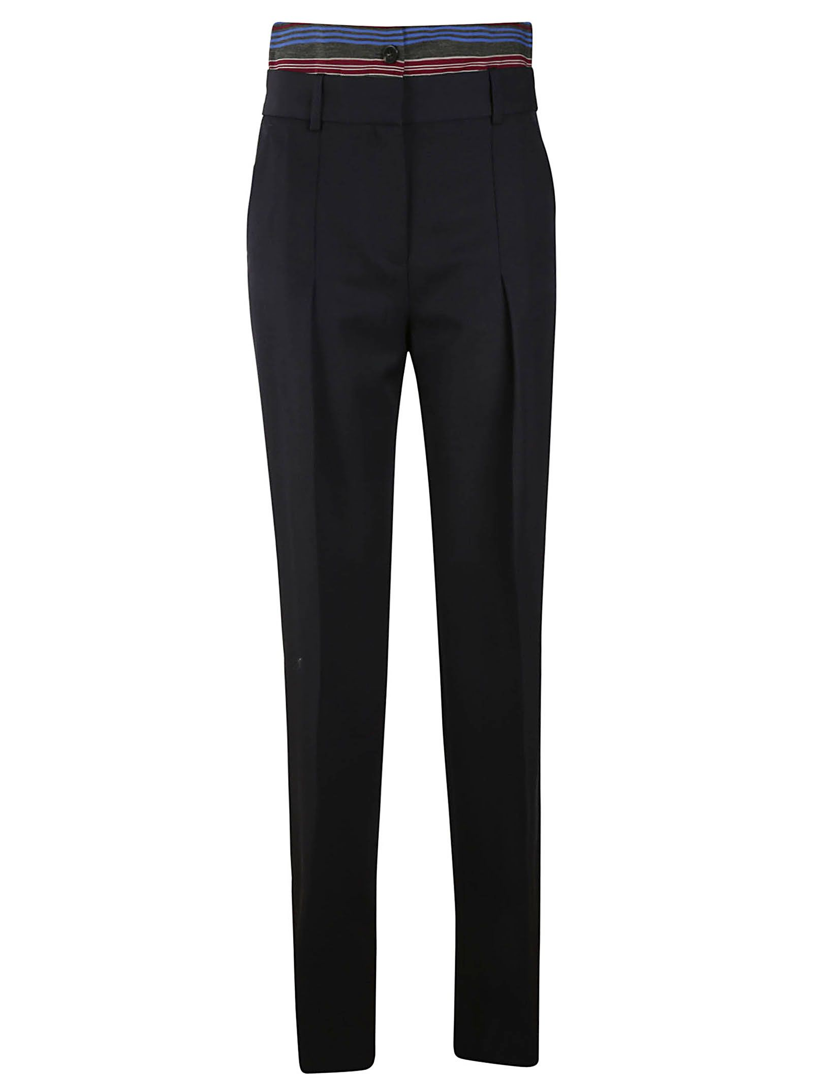 VICTORIA BECKHAM DOUBLE WAISTBAND TROUSERS