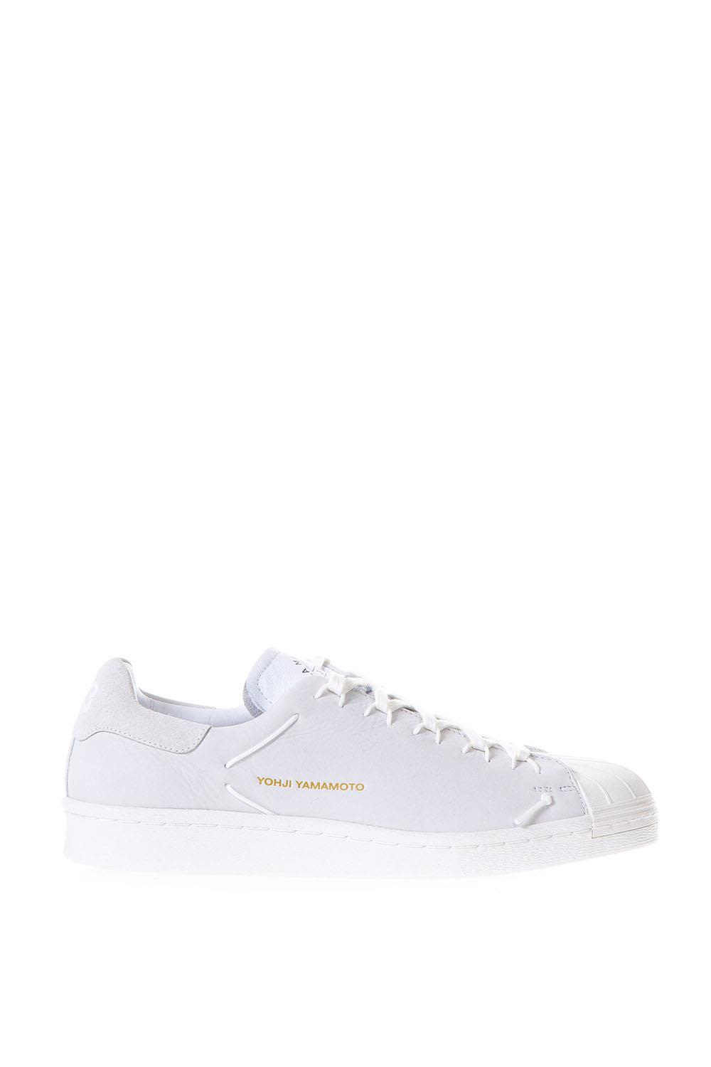 y-3 -  Knot White Leather Sneakers