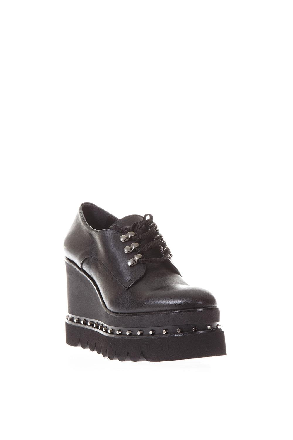 ... Ras Nappa High Wedge Lace Up Mocassin ...