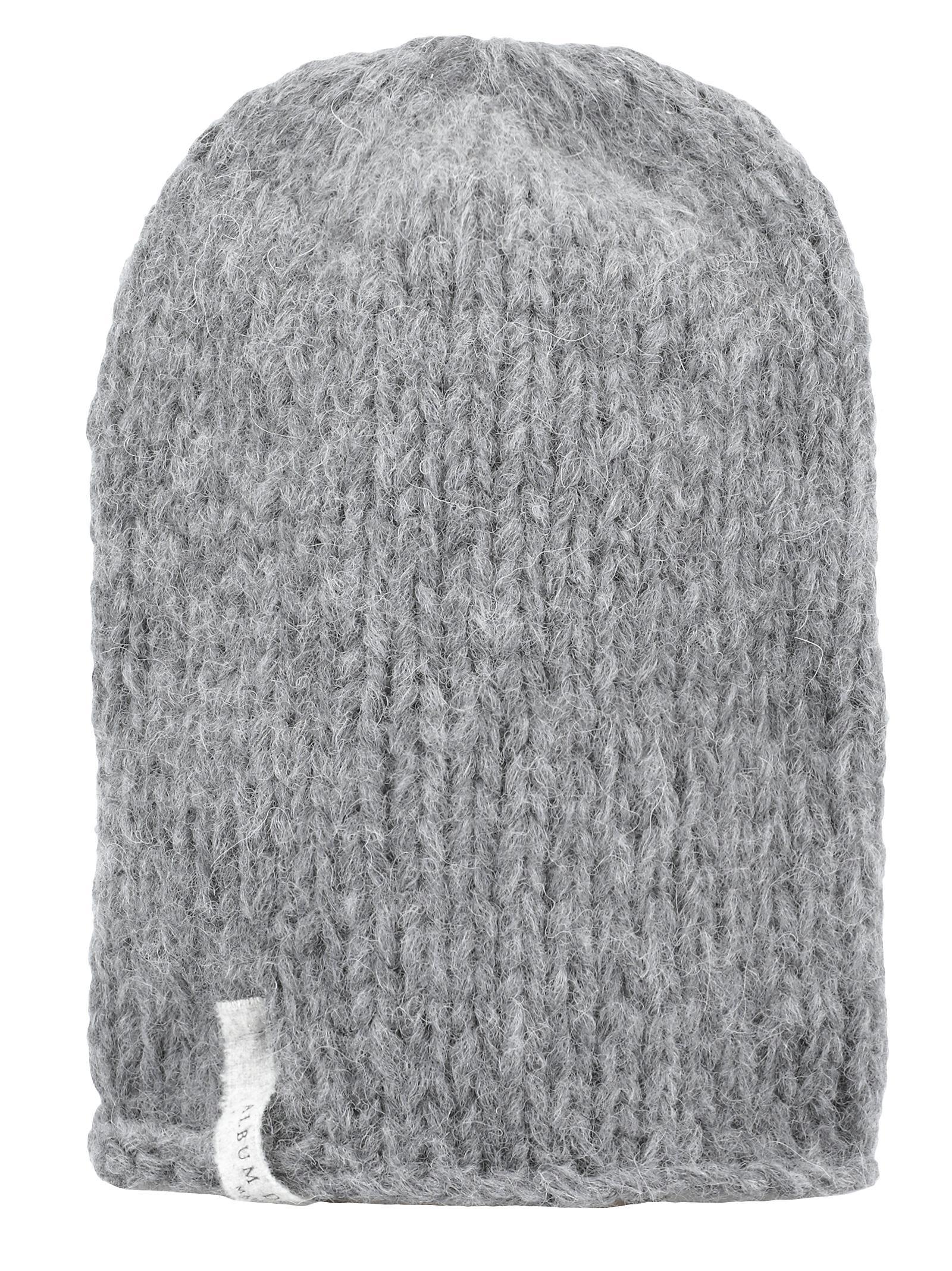 ALBUM DI FAMIGLIA Beanie Hat in Grey