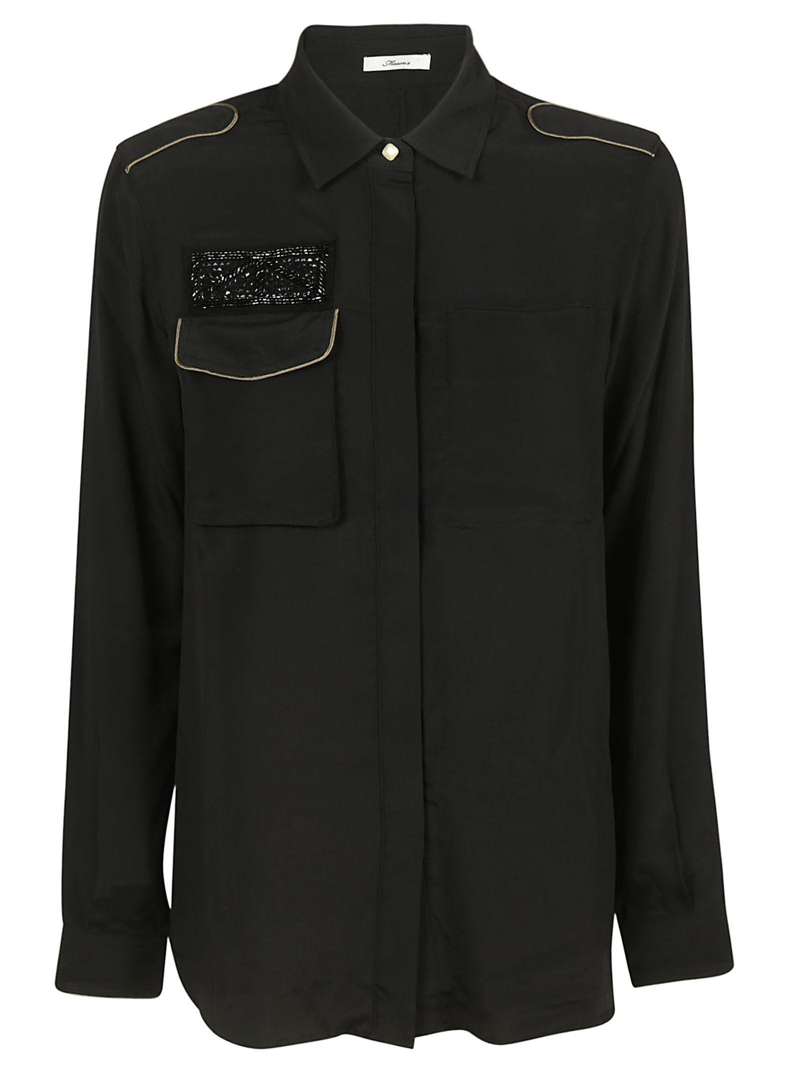 MASON'S Safari Shirt in Nero