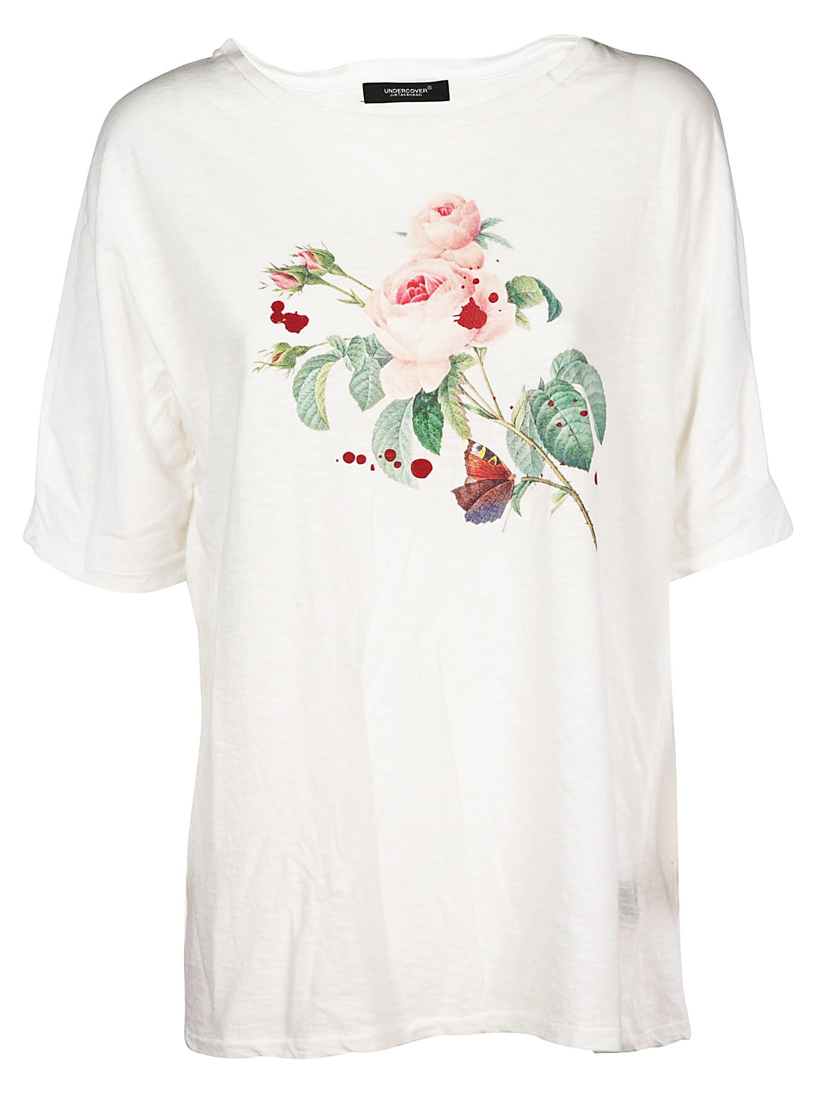 Undercover UNDERCOVER FLORAL PRINTED T-SHIRT