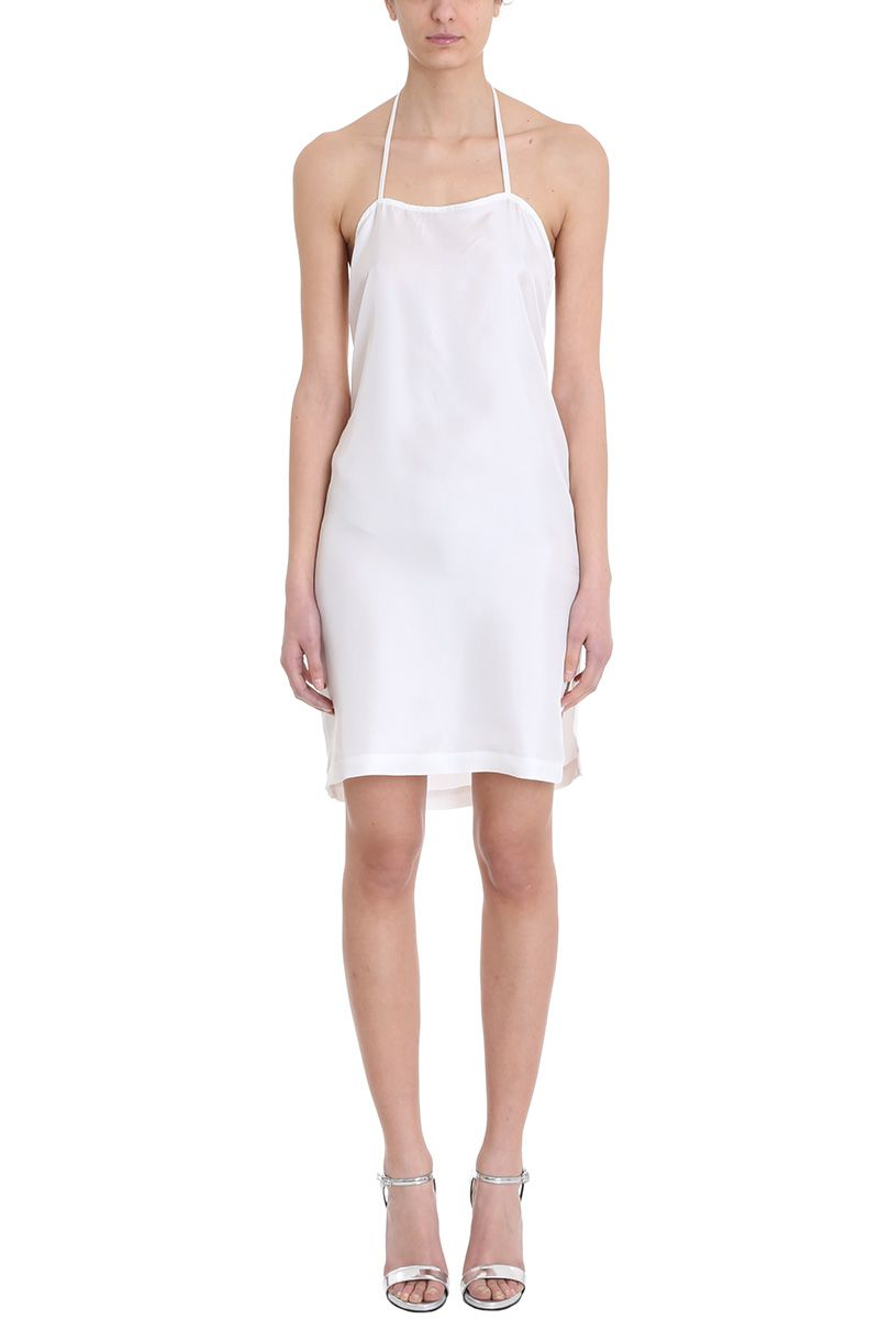 Sartorial Monk White Silk Dress 10597728