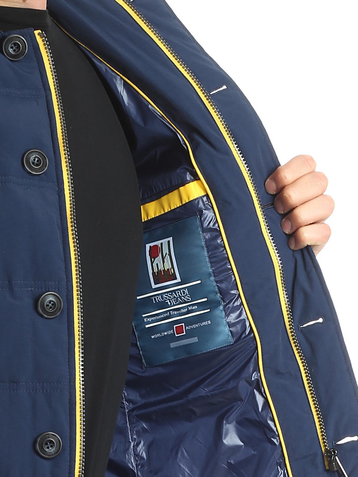 TRUSSARDI Duck Feather Jacket in Blue