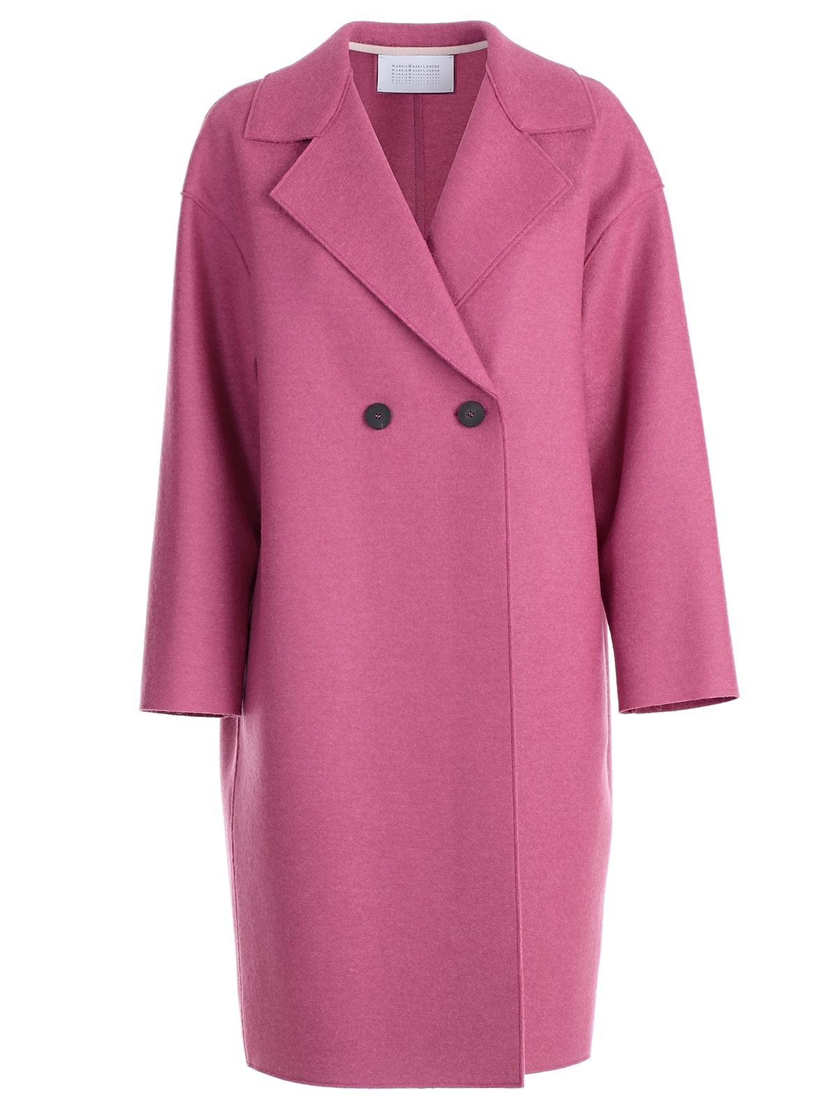 HARRIS WHARF LONDON TWO BUTTON DOUBLE BREASTED COAT