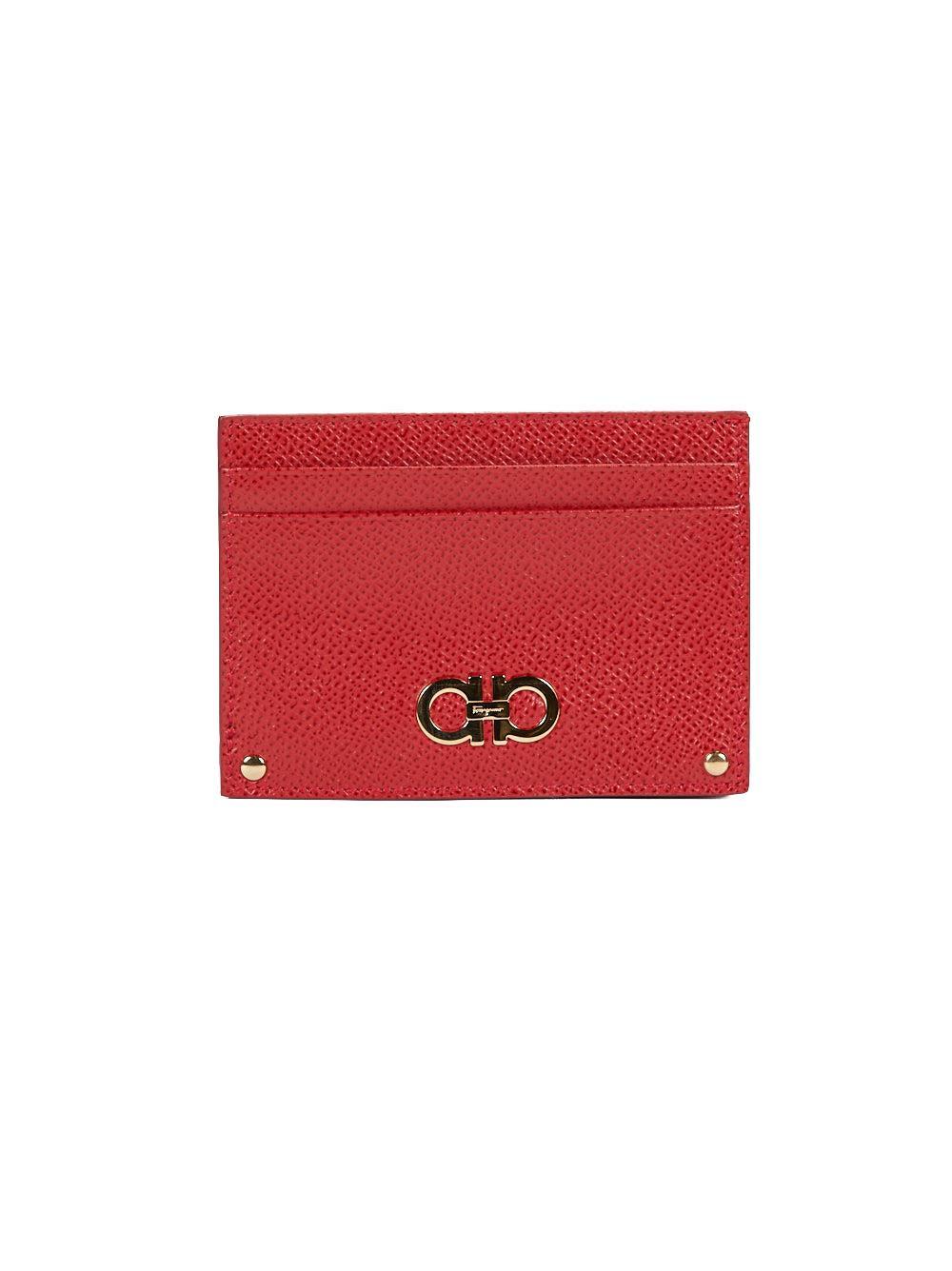 logo embellished cardholder - Red Salvatore Ferragamo mriSxpqOQy