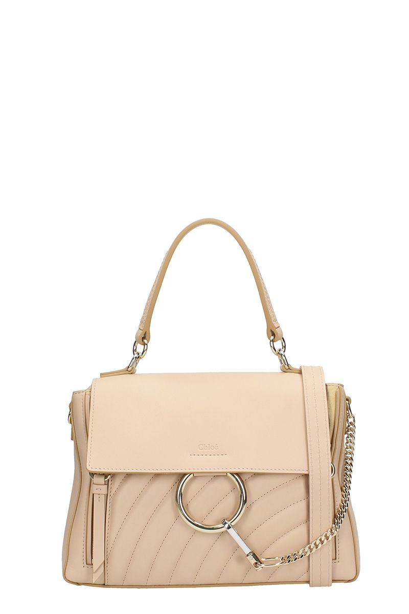 CHLOÉ SMALL BEIGE FAYE BAG