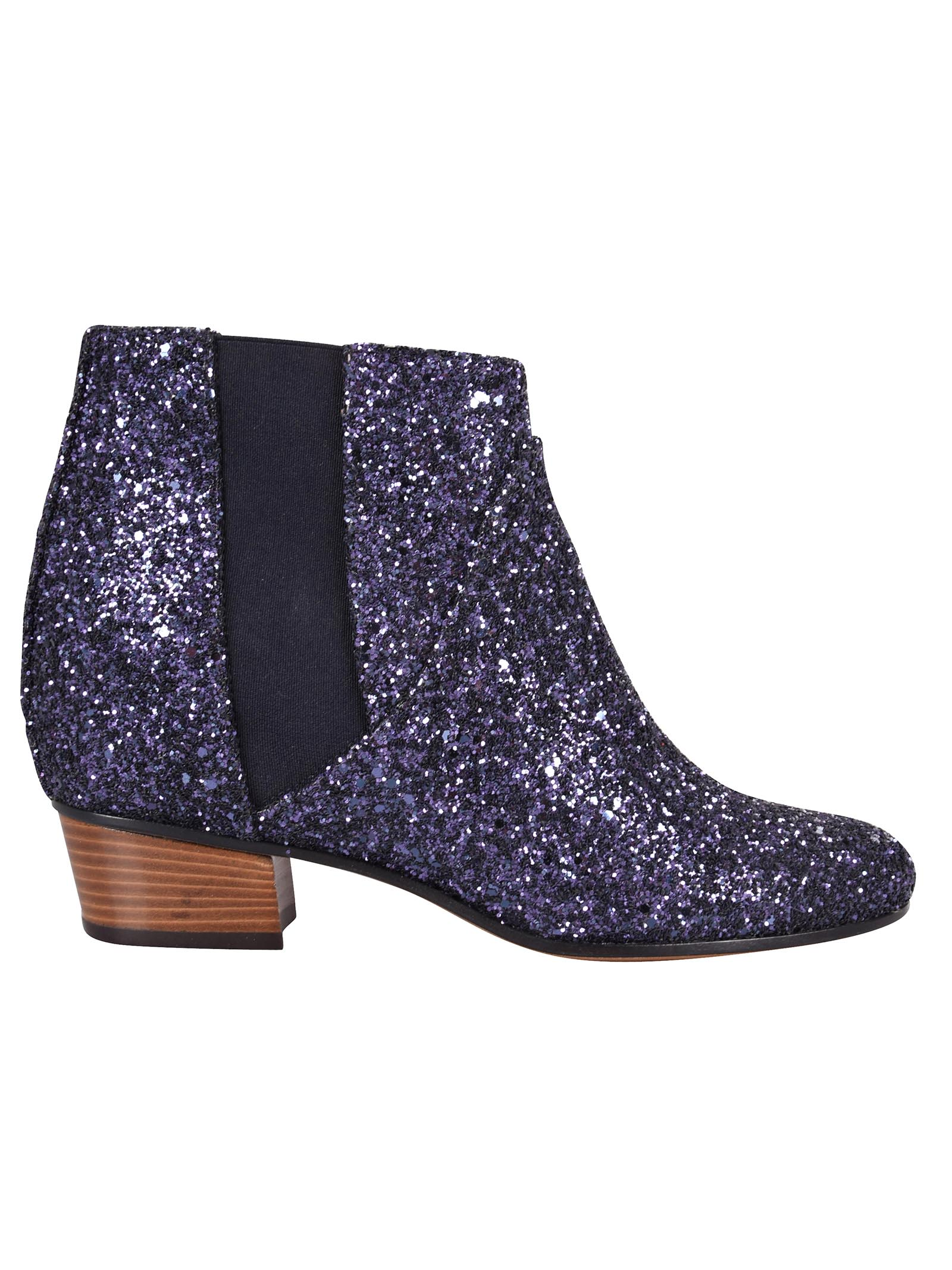 Dana Ankle Boots, Blue Glitter
