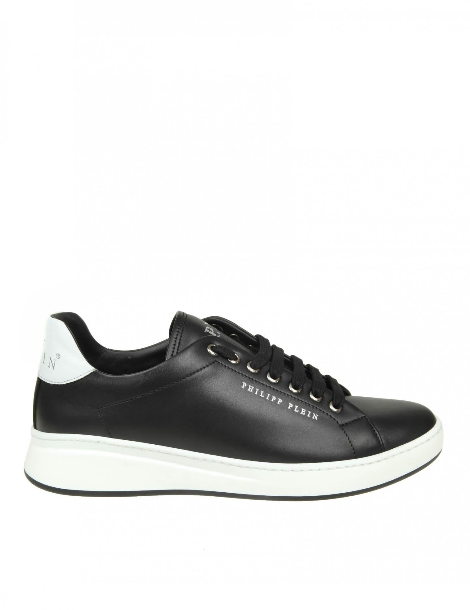 PHILIPP PLEIN SNEAKERS LO-TOP ORIGINAL IN BLACK LEATHER