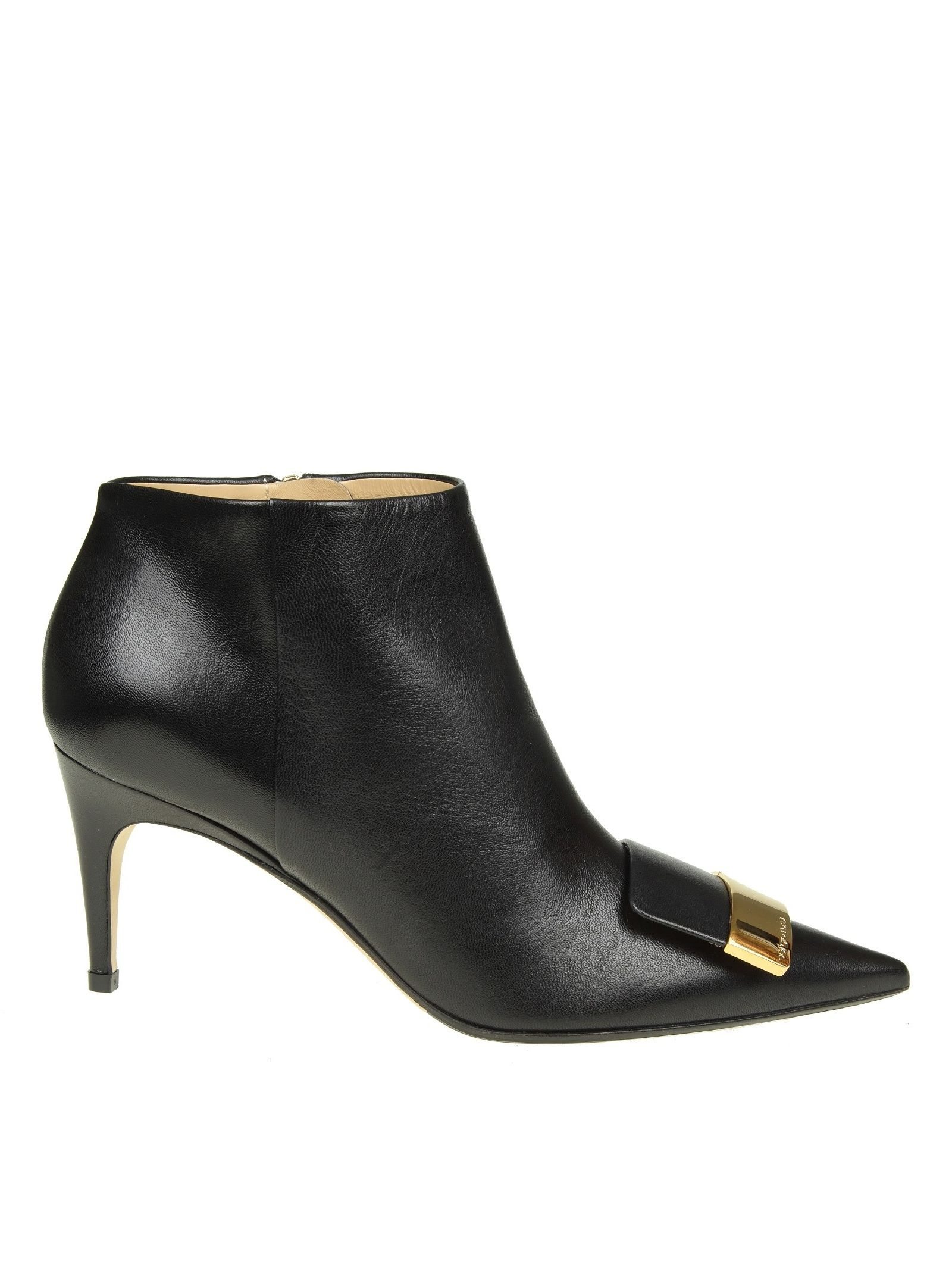 fbd867990666 SERGIO ROSSI Sergio Rossi Boots Pointed In Black Leather