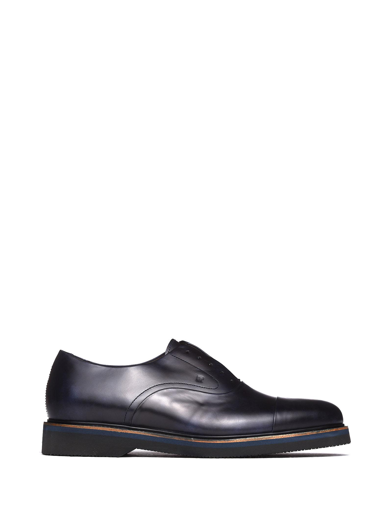 FRATELLI ROSSETTI ONE Lace-Up In Navy Calf Leather